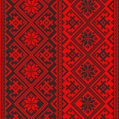 Red ukrainian pattern — Stock Vector