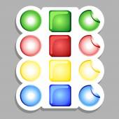 Colored buttons — Stock Vector