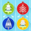 New Year and Christmas elements Christmas tree ornaments — Stock Vector #59623941