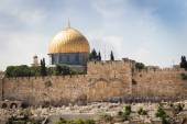 Jerusalem, Israel, El-Aqsa mosque and Golden gate on temple mountain — Photo