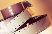 Old movie camera film reel strip — Stock Photo