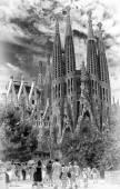 Spain, Barselona, Sagrada Familia. — Stock Photo