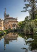 Portugal Bussaco . Royal hunting castle. — Stock Photo