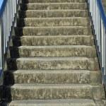 Urban footbridge staircase with symmetrical composition — Stock Photo #75538823