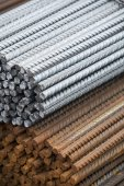 Steel building armature — Stock Photo