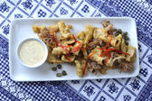 Fried calamri — Stock Photo