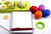 Easter blank recipe book — Stock Photo