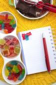 Livre de recette pour enfants anniversaire — Photo