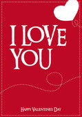 Día de San Valentín vector Poster — Vector de stock