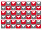 Tło wektor wzór serca — Wektor stockowy