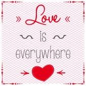 Vector  Love Valentines Card — Stock Vector