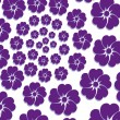 Vector background lilac flower — Stock Vector #61734395