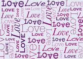 Vector Typographic Love — Stock Vector
