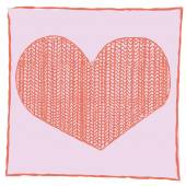 Vector valentines heart with wool fabric — Stock Vector