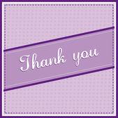 Vector Thank you card — Stock Vector