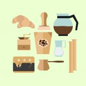 Vintage Coffee Cup  icons for your design — Stock Vector