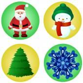 Christmas elements vector set — Stock Vector