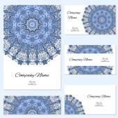 Επαγγελματικές κάρτες συλλογή. στολίδι για το σχέδιό σας. — Διανυσματικό Αρχείο