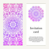 Invitation card on wedding, birthday. Background with ornament.  — Stock Vector