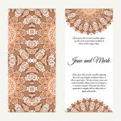 Invitation card on wedding. Background with ornament. Vector ill — Stock Vector