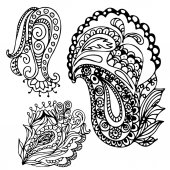 Hand drawn doodle element  in vector. Ethnic zentangle design. B — Vettoriale Stock