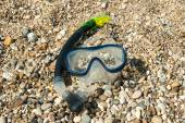 Swim mask and tube for diving under water — Stockfoto