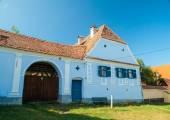 Viscri village and fortified church of Viscri, Transylvania, Romania — Stock Photo