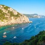 Paleokastritsa bay, Corfu Island, Greece — Stock Photo #61497827