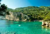 Paleokastritsa bay, Corfu Island, Greece — Stock Photo