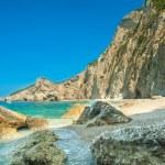 Paradise Beach near Liapades, Western of Corfu Island, Greece — Stock Photo #61642967