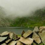 Capra lake (Goat lake) in the Transylvanian Alps, Romania — Stock Photo #62530643