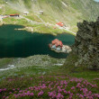 Glacial Balea Lake on Transfagarasan. Carpathians Mountains — Stock Photo #62532487