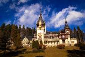Peles Castle in the Carpathians Mountains, Romania. — Stock Photo