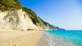 Egremni ビーチ、レフカダ島、Ionion 海、ギリシャ — ストック写真