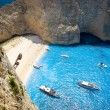 Navagio Beach - Shipwreck Beach, Zakynthos Island, Greece — Stock Photo #66151763