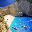 Navagio Beach - Shipwreck Beach, Zakynthos Island, Greece — Stock Photo #66151803