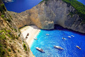 Navagio Beach - Shipwreck Beach, Zakynthos Island, Greece — Stock Photo