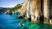 Blue caves on Zakynthos island, Greece — Foto de Stock