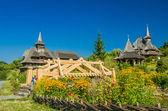 Barsana wooden monastery, Maramures, Romania. — Stock Photo