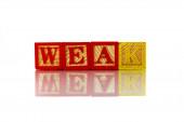 Weak — Stock Photo