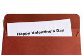 Happy valentine's day in the envelope — Φωτογραφία Αρχείου