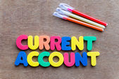Current account — Stock Photo