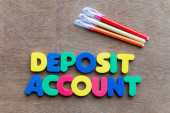 Deposit account — Foto Stock