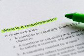 What is a requirement — Stock Photo