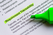 Requirement traceability — Stock Photo