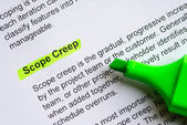 Scope creep — Stock Photo