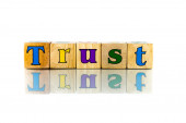 Buzzword Cubes: Trust — Stock Photo