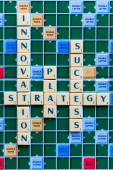 Innovation and Strategy crossword — 图库照片