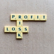 Profit, loss and risk crossword — Stock Photo #67883601