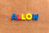 Allow — Stock Photo